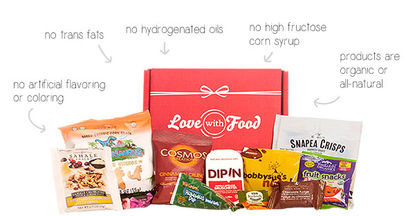 Love With Food Snack and Food Box Subscription | Gluten Friendly or Organic |