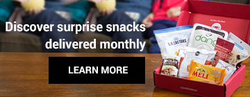 Discover surprise snacks delivered monthly? LEARN MORE
