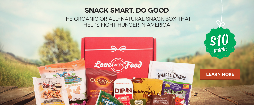 Snack Smart. Do Good. Discover new, organic or all-natural snacks, delivered to your door for $10/month. Learn more…