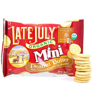 Organic Mini Peanut Butter Crackers By Late July Snacks