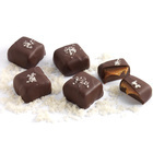 Vegan Gray Salt Caramels in 72% Dark Chocolate