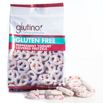 peppermint yogurt covered pretzels by glutino snack shop love with food. Black Bedroom Furniture Sets. Home Design Ideas