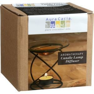 Aura Cacia - Spiral Candle Lamp - Black - 1 Count