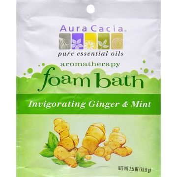 Aura Cacia Foam Bath Invigorating Ginger and Mint - 2.5 oz - Case of 6