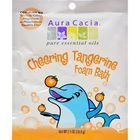 Aura Cacia Cheering Foam Bath Tangerine and Sweet Orange Essential Oils - Case of 6 - 2.5 oz