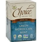 Choice Organic Teas Green Moroccan Mint Tea - 16 Tea Bags - Case of 6