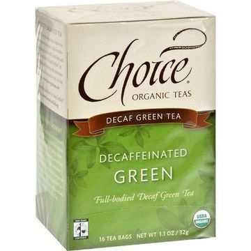 Choice Organic Teas Decaffeinated Green Tea - Case of 6 - 16 Bags