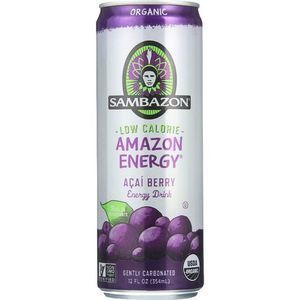 Sambazon Energy Drink - Amazon Energy - Acai Berry - Low Calorie - 12 oz - case of 24