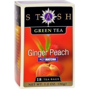 Stash Tea Ginger Peach Green W/ Matcha - 18 Tea Bags - Case of 6