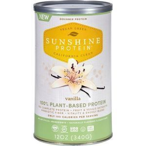 Sunshine Protein Shake Mix - Plant-Based - Vanilla - 12 oz