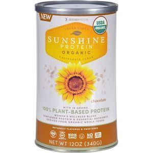 Sunshine Protein - Organic - Plant-Based - Chocolate - 12 oz
