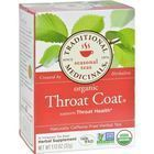 Traditional Medicinals Organic Throat Coat Herbal Tea - Caffeine Free - 16 Bags