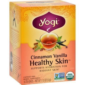 Yogi Teas Cinnamon Vanilla Healthy Skin Tea 16 Bags Case Of 6