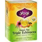Yogi Triple Echinacea Herbal Green Tea - 16 Tea Bags - Case of 6