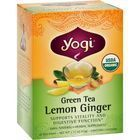 Yogi Organic Green Tea Lemon Ginger - 16 Tea Bags - Case of 6