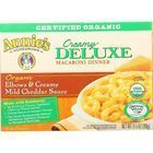 Annies Homegrown Macaroni Dinner - Organic - Creamy Deluxe - Elbows and Creamy Mild Cheddar Sauce - 9.5 oz - case of 12
