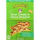 Annies Homegrown Crackers - Sour Cream and Onion Bunnies -7.5 oz - case of 12