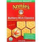 Annies Homegrown Crackers - Organic - Buttery Rich Classic - 6.5 oz - case of 12