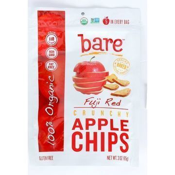 Bare Fruit Apple Chips - Organic - Crunchy - Fuji Red - 3 oz - case of 12