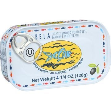Bela-Olhao Sardines in Olive Oil - 4.25 oz - Case of 12
