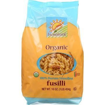 Bionaturae Pasta - Organic - 100 Percent Durum Semolina - Fusilli - 16 oz - case of 12
