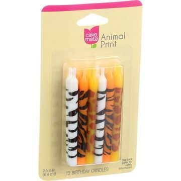 Cake Mate - Birthday Party Candles - Animal - 12 Count - Case of 12