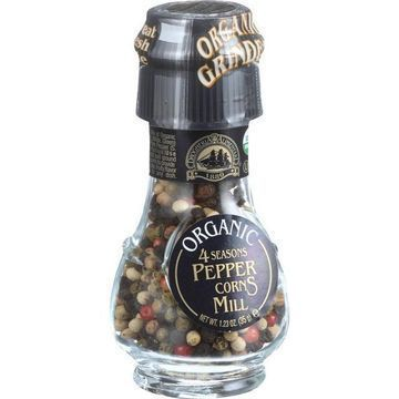 Drogheria and Alimentari Spice Mill - Organic 4 Seasons Peppercorns - 1.24 oz - Case of 6