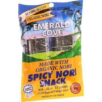 Emerald Cove Spicy Nori Snack - Organic Nori - Silver Grade - 48 Count - Case of 6