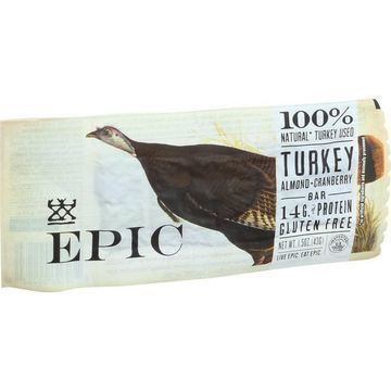 Epic Bar - Turkey Almond Cranberry - 1.5 oz Bars - Case of 12