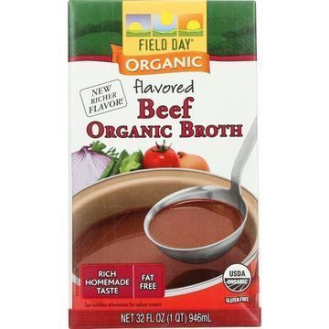 Field Day Broth - Organic - Flavored Beef - 32 oz - case of 12