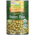 Field Day Sweet Peas - Organic - Green - 15 oz - case of 12