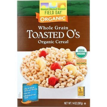 Field Day Cereal - Organic - Whole Grain - Toasted Os - 14 oz - case of 10