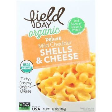 Field Day Macaroni Shells and Cheese - Organic - Deluxe - Mild Cheddar - 12 oz - case of 12