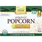 Field Day Microwave Popcorn - Organic - Butter Flavor - 3/3.5 oz - case of 12