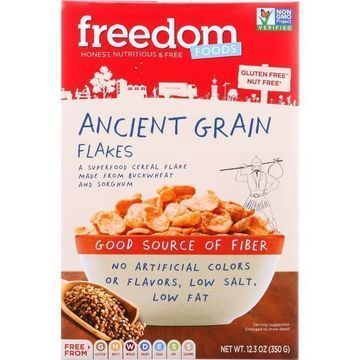 Freedom Foods - Cereal - Ancient Grain Flakes - Gluten Free - 12.3 oz - case of 5