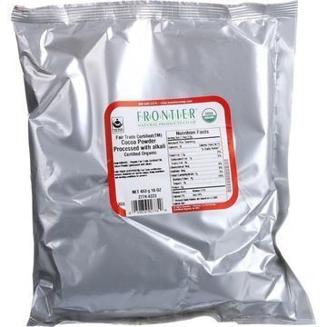 Frontier Herb Cocoa Powder - Organic - Fair Trade Certified - Dutch - Bulk - 1 lb