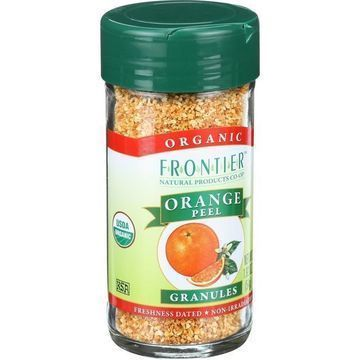 Frontier Herb Orange Peel - Organic - Granules - 1.92 oz