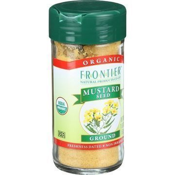 Frontier Herb Mustard Seed - Organic - Yellow - Ground - 1.80 oz