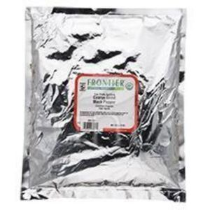 Frontier Herb Pepper - Organic - Fair Trade Certified - Black - Coarse Grind - Bulk - 1 lb