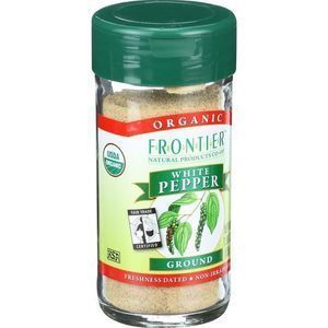 Frontier Herb Pepper - Organic - Fair Trade Certified - White - Ground - 1.98 oz