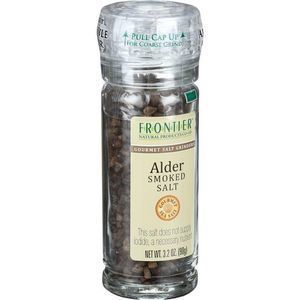 Frontier Herb Alder Smoked Salt - Grinder Bottle - 3.2 oz - Case of 6