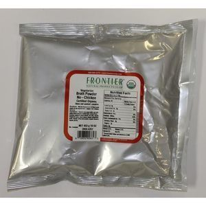 Frontier Herb Broth Powder - Organic - No Chicken - Bulk - 1 lb