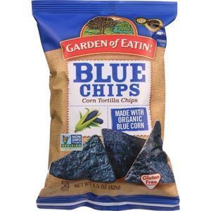Garden Of Eatin Tortilla Chips - Organic - Blue Corn - Salted - 1.5 oz - case of 24