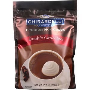 Ghirardelli Hot Cocoa - Premium - Double Chocolate - 10.5 oz - case of 6