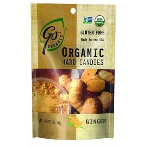Go Organic Hard Candy - Ginger - 3.5 oz - Case of 6