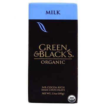Green and Black's Organic Chocolate Bars - Milk Chocolate - 34 Percent Cacao - 3.5 oz Bars - Case of 10