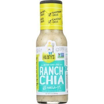 Hilary's Eat Well - Salad Dressing - Ranch Chia - Case of 6 - 8 fl oz.