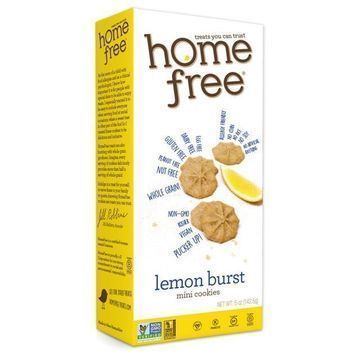 Homefree - Gluten Free Mini Cookies - Lemon Burst - Case of 6 - 5 oz.