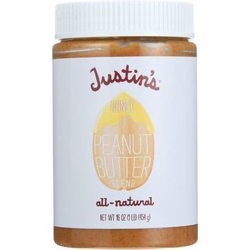 Justin's Nut Butter Peanut Butter - Honey - Case of 12 - 16 oz.