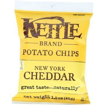 Kettle Brand Potato Chips - New York Cheddar - 1.5 oz - case of 24